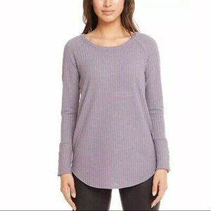 NEW Chaser Waffle Knit Button Cuff Long Sleeve